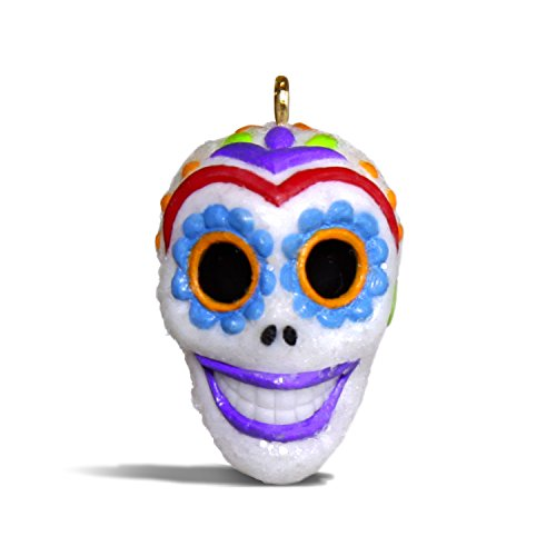 Hallmark Keepsake Halloween Decor Mini Ornament 2018 Year Dated, Sugar Skull Guy Miniature, 1