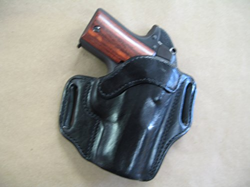 - Rock Island Baby Rock 380 OWB Leather 2 Slot Molded Pancake Belt Holster CCW BLACK RH