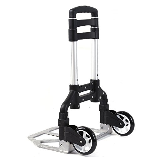 170 Lbs Cart Folding Truck Hand Collapsible Trolley Luggage Aluminium