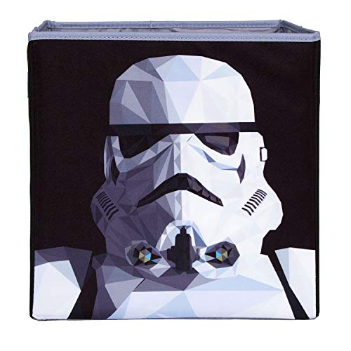 Star Wars Storm Trooper Collapsible Storage Bin by Disney - Cube Organizer for Closet, Kids Bedroom Box, Playroom Chest - Foldable Home Decor Basket Container with Strong Handles and Design