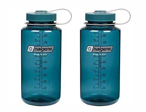 Nalgene Tritan Wide Mouth, Cadet with Matching Cap 32oz, Set of 2