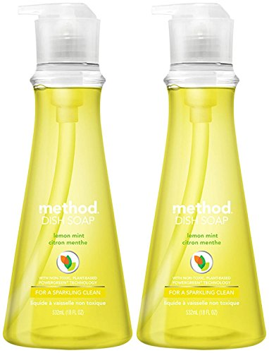 - Lemon Mint Dish Soap Pump, 18 Oz by Method Products (Pack of 3)