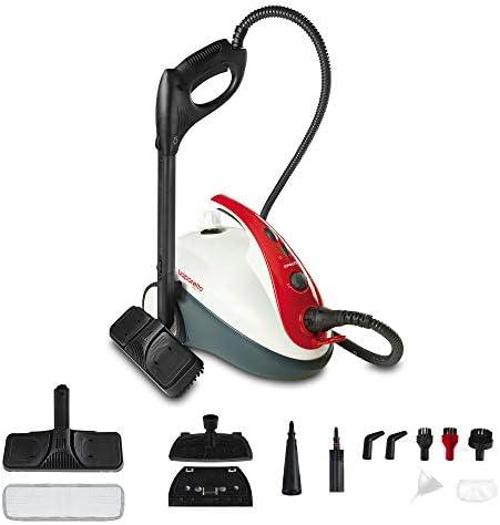 Polti Vaporetto Smart 30_R Limpiador a vapor, 3 Bar, compartimento para accesorios integrado, 1800 W, 1.6 litros, 18/10 Steel, Rojo y Blanco: Amazon.es: Hogar