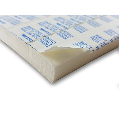Hot 12 of VHB Double-Sided Foam Squares Adhesive (Mounting Squares) 1 x 1 inch x 1/2 inch thick! - Permanent aggressive adhesive dots. (1/2 in. thick)