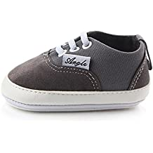 Huluwa Baby Shoes Non-slip First Walking Shoes, Rubber Sole Canvas Shoes for Baby Boys Girls
