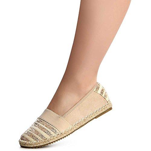 Ballerines Beige Chaussures Femmes Topschuhe24 Topschuhe24 Femmes 7C6nqz