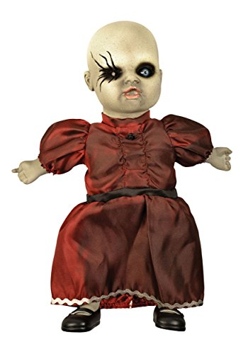 Fun World Unisex-Adult's Coffin Dead Porcelain Doll Light, red, standard ()