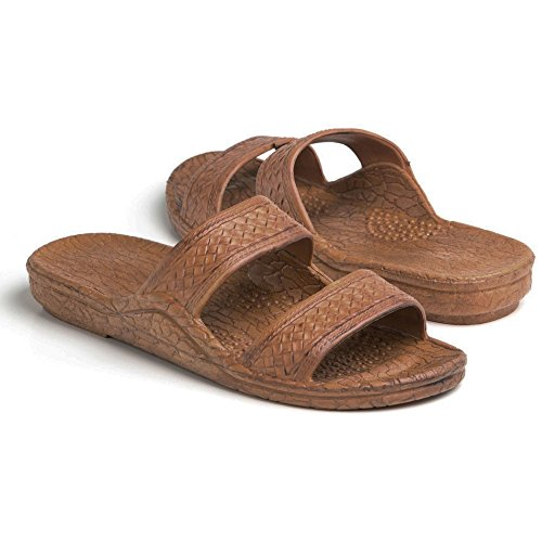 Pali Hawaii Unisex Adult Classic Jandal Sandal (Light Brown, 9)