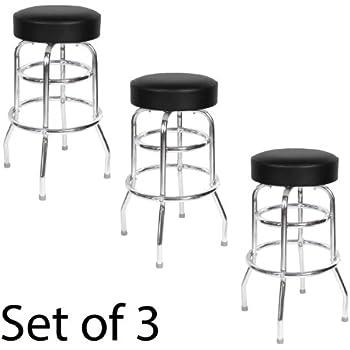 Amazon Com Black Seat Double Rung 30 Inch Swivel Bar
