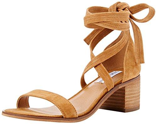 Steve Madden Rizzaa Sandal - Sandalias Mujer Marrón (Cognac)