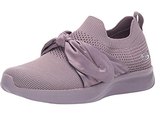 Solid Rib Knit Collar - Skechers BOBS from Women's Bobs Squad 2 Mauve 6.5 B US