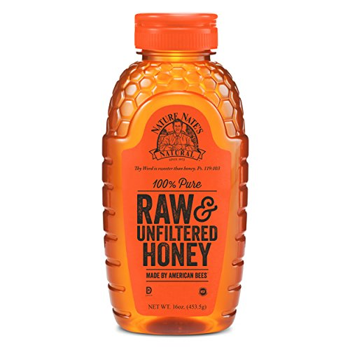 Nature Nate's 100% Pure, Raw and Unfiltered Honey, 16 Ounce