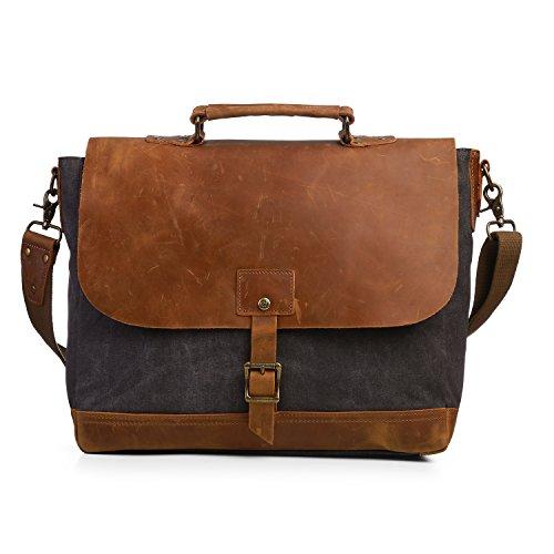 ECOSUSI Canvas Laptop Bag Briefcase Business Handbag Mess...