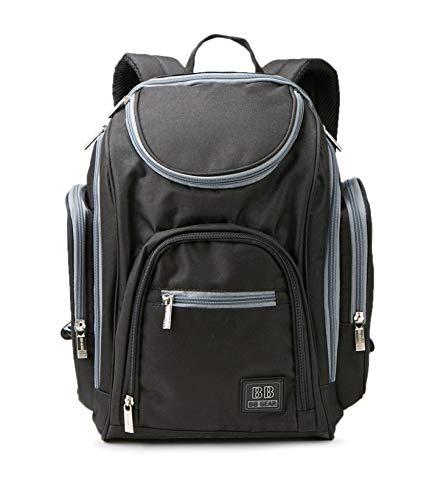 Baby Boom BB Gear Twill Back Pack Diaper Bag (Black)