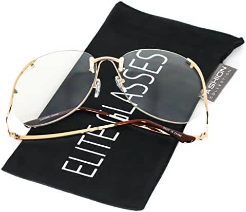 Elite RIMLESS OVERSIZED VINTAGE RETRO Butterfly Upside Down Sun Glasses