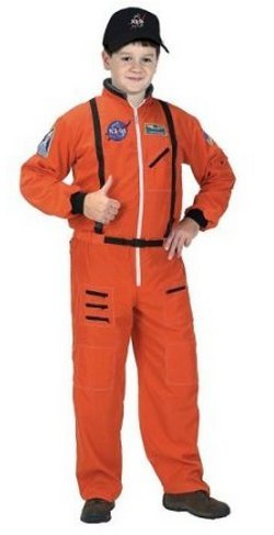Game / Play 6/8, Orange - NASA Jr. Astronaut Suit /Child Costume, astronaut suit costume, child astronaut Toy / Child / Kid (Orange Nasa Flight Suit)