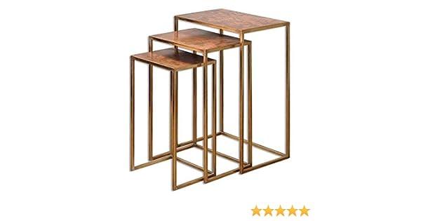 Uttermost Copres - Juego de 3 mesas de Nido oxidadas: Amazon.es ...
