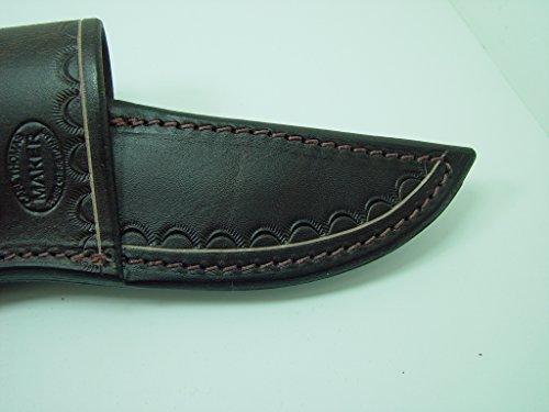 Custom Leather Cross Draw Knife Sheath For A Buck 119 Dyed