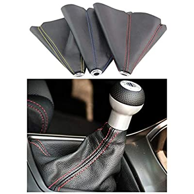 PVC Shift Boot for Manual Automatic Car/Auto Gear Shift Knob Cover MT/AT Universal Type (Red): Automotive