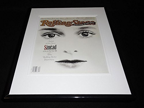 Sinead O'Connor 1991 Rolling Stone Framed Cover Display 11x14 Official RP