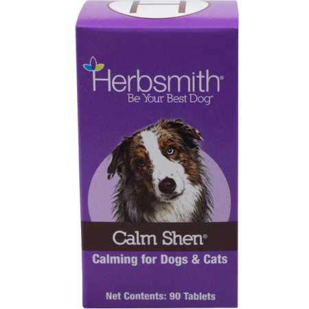 Herbsmith Calm Shen - Herbal Blend for Dogs & Cats - Natural Anxiety Remedy for Dogs & Cats - Feline & Canine Calming Supplement - 90 Tablets by Herbsmith, Inc.
