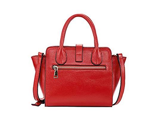 Tracolla Red Portatile color Diagonale Leather Red Per Wings Donna Vacchetta Olprkgdg wUtvqZ