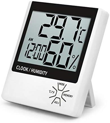 CHenXy デジタルサーモ湿度計、高精度屋内温度計、時間の目覚まし時計、画面のバックライト、家庭、オフィス、ベビールーム 湿度計温度計 (Color : Standard models)
