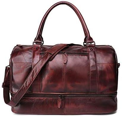 紳士ハンドバッグ メンズミニマファッションユニセックスレザー荷物バッグオーバーナイトショルダーバッグウィークエンドバッグトートバッグ特大トラベルショルダーバッグは、15.6インチに適合 便利で多用途 (色 : Black, Size : 58x31x33cm)