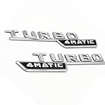 Ricoy 2Pcs Turbo AMG Badge For Mercedes A B C E S Class Stickers Side Fender Emblem(Pack of 2)