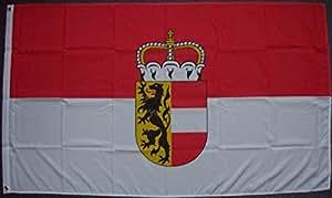 Bandera de Salzburg con escudo, aprox. 90x 150cm