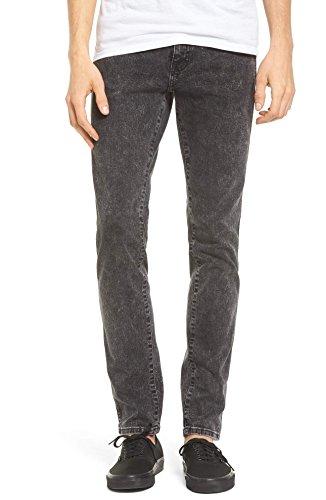 Dr. Denim Supply Co Men's Snap Skinny Fit Jeans (Acid Black) Size (Dr Denim Snap)