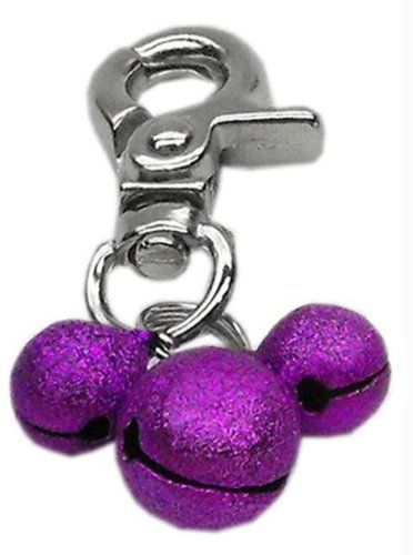 Lobster Claw Bell Charm Purple . Case Pack 24 Lobster Claw Bell Charm Purple ... by DSD