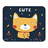 Boszina Mouse Pads Boy Black Animal Cute Dog White Baby Cartoon Mouse Pad for notebooks,Desktop Computers mats 9.5'' x 7.9'' Office Supplies