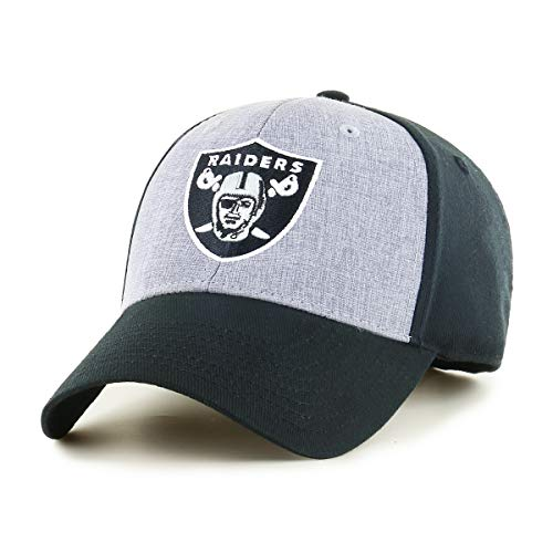 OTS NFL Oakland Raiders Male Essential All-Star Adjustable Hat, Black, One Size