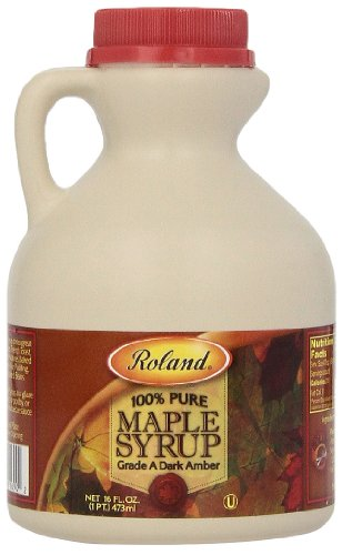 Roland Maple Syrup, 100% Pure, 16 Ounce - Amber Open Sugar