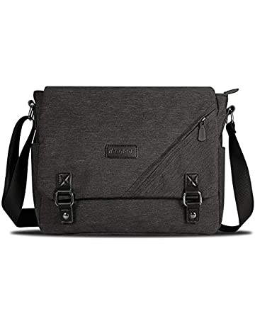 3e4096778151 ibagbar Canvas Messenger Bag Shoulder Bag Laptop Bag Computer Bag Satchel  Bag Bookbag School Bag Working