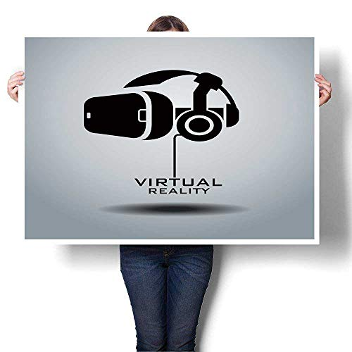 SCOCICI1588 DIY 3D Painting Virtual Reality Headset icon Vector icon Design Black White Painting,44
