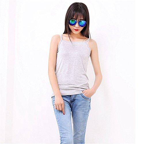 ECYC® Plus Size L-XXXL 4XL 5XL 6XL Mujeres Sin Mangas Loose Modal T-Shirt Summer Tank Tops A04: Gris