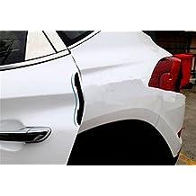 BININBOX 4Pcs Set Car Door Edge Guards Silicone Slim Bumper Strip Scratch Protector Trim Sticker Molding Motors Auto Anti-rub (Black)