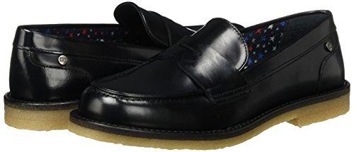 1a M1285athilde Hilfiger loafers Noir black Mocassins Tommy Femme EfwqW