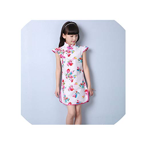1-9Y Summer Vintage Baby Girls Dress Elegant Chinese Style Children Clothing Costume Kids Dresses for Girls Clothes,Style Seven,7 ()