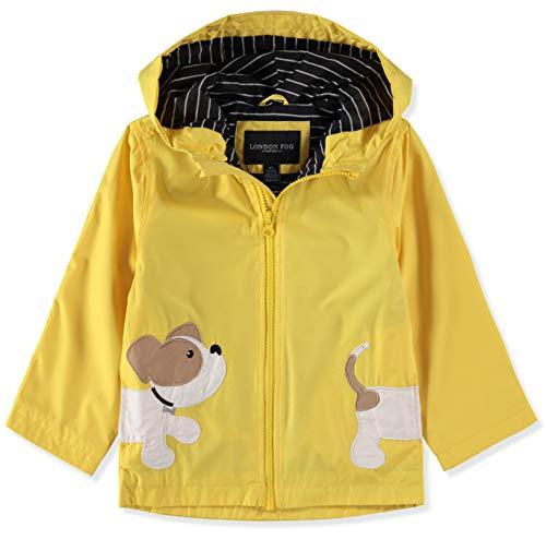 (London Fog Hooded Little Animal Rain Slicker Rain Jacket (Yellow Puppy, 12 Months))