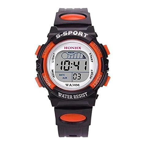 WMWMY Reloj Digital, la Moda Masculina Jelly Gel Sport Mens Watch Reloj de Hombre Reloj