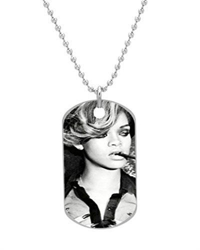 Alokozy® Rihanna Dog Tag Necklace includes 27