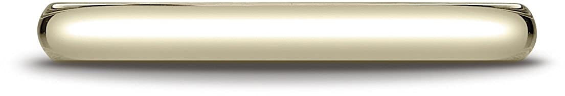 Benchmark 14K Yellow Gold 2.5mm Slightly Domed Traditional Oval Wedding Band Ring Sizes 4-15