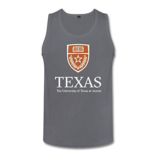 JIALE Men's University Of Texas At Austin Logo Tank Top XX-Large Deep Heather ()