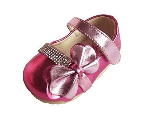 Cinda Baby-Mädchen funkelnde Partei Schuhe Fuchsie