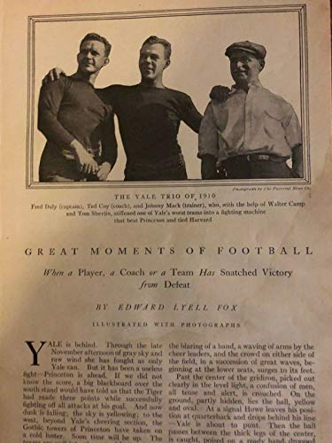 1911 Great Moments of Football Yale Harvard Princeton West Point