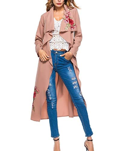 Collar Down AS1 Cardi Turn Outwear Rose Howme Overcoat Printed Women Jacket AaxqaEt4