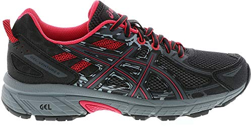 ASICS Womens Gel-Venture 6 Athletic Trainer Running Shoes Black 6.5 Medium (B,M)
